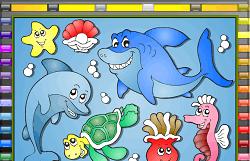 Coloreaza Animalele Marine