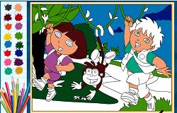 Coloreaza-i pe Dora si Diego 2