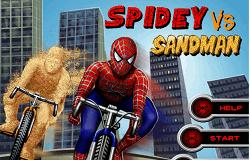 Spiderman cu Bicicleta