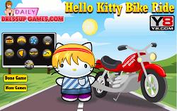 Hello Kitty cu Motocicleta