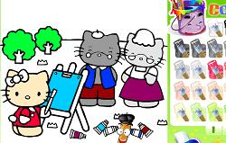 Picteaza cu Hello Kitty