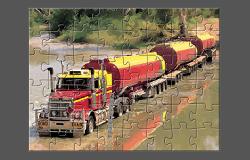 Puzzle cu Camioane Mari