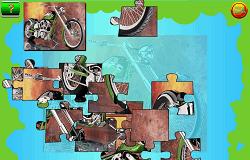 Motocicleta Verde Puzzle