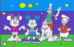 Coloreaza cu Mickey Mouse