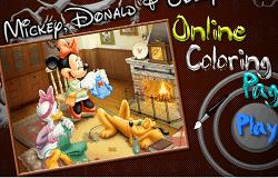 Coloreaza cu Mickey