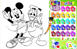 Coloreaza-i pe Mickey si Donald
