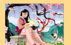 Puzzle cu Printesa Mulan