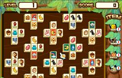 Mahjong cu Animale Numere si Fructe