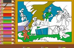 Coloreaza cu Peter Pan