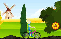 Polly cu Bicicleta