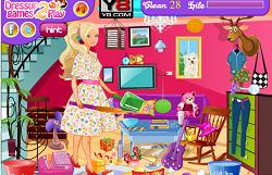 Curatenie cu Barbie