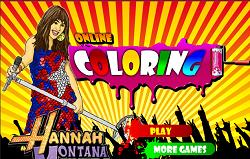 Hannah Montana de Colorat