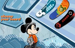 Mickey cu Snowboardul