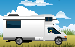 Naruto cu Masina de Camping