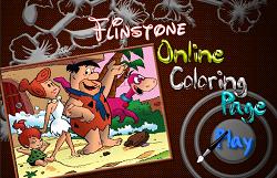 Coloreaza cu Familia Flinstone