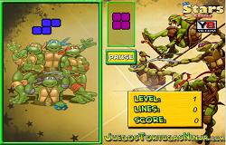 Testoasele Ninja Tetris