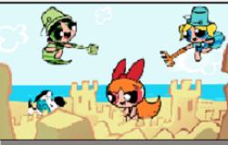 Fetitele Powerpuff la Plaja