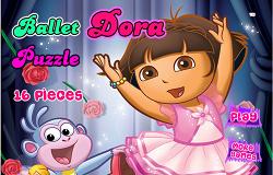 Dora la Balet Puzzle