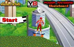 Rangerul Rosu cu Skateboardul