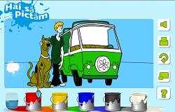 Coloreaza cu Scooby Doo