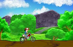 Ash Ketchum cu Motocicleta