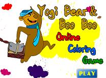 Ursul Yogi de Colorat