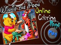 Winnie the Pooh de Colorat 2