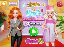 Annie si Eliza Aventura Social Media