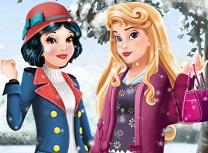 Aurora si Alba ca Zapada Fashion de Iarna
