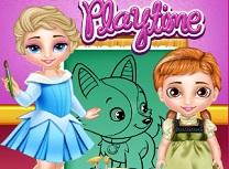 Elsa si Anna Bebelusi la Joaca