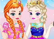 Bebelusele Anna si Elsa de Imbracat