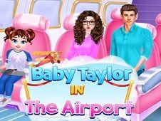 Bebelusa Taylor in Aeroport