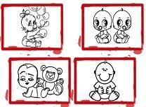 BTS Carte de Colorat cu Bebelusi