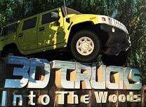 Camioane 3D in Padure