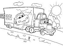 Camion McQueen de Colorat