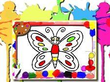 Coloreaza Cartea cu Fluturi
