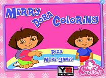 Coloreaza cu Dora