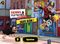 Dennis si Gnasher Skateboard
