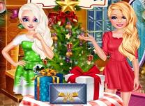 Elsa si Barbie Ajunul Craciunului