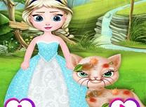 Bebelusa Elsa Salveaza Pisica Maidaneza