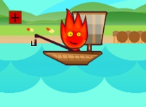Fireboy si Watergirl Merg la Pescuit