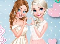 Anna si Elsa Domnisoare de Onoare cu Sclipici