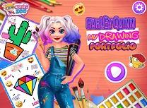 Harley Quinn Portofoliu de Colorat