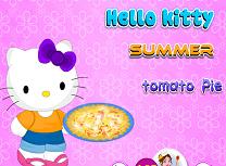 Hello Kitty Gateste Placinta cu Rosii