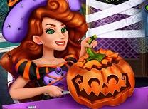 Jessie Decoreaza Dovleacul de Halloween
