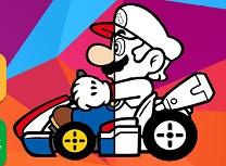 Mario Carte de Colorat cu Masini