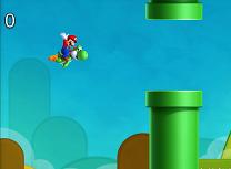 Mario si Yoshi Aventura Flappy