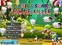 Mario si Sonic vs Zombie