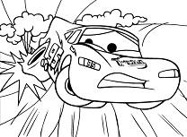 Fulger McQueen Colorat cu Pana
