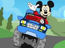 Mickey Mouse Masini cu Litere Ascunse